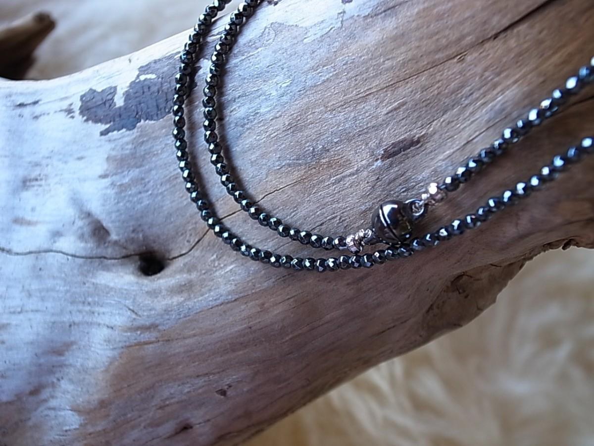 Halskette Hämatit 2mm, Länge 45cm, Magnetverschluss, CHF 58.00