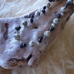 Halskette mit Draht 3fach geflochten, Magnetverschluss, Länge 45cm, CHF 42.00