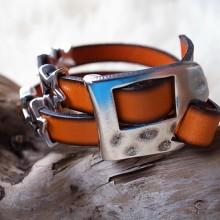 Armband Leder mit Metallteil 2fach nickelfrei CHF 19.00
