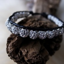 Leather-Wrap Bracelet 26 -Swarovski- 17cm CHF 25.00