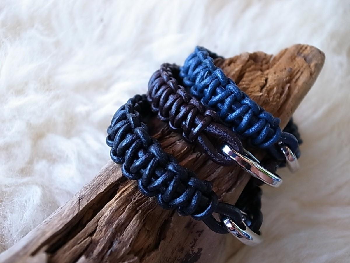 Armband Leder in blau, braun oder schwarz 14mm breit je CHF 19.00